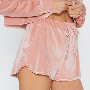 Nasty Gal Other - SET, Fool For You Velour Hoodie and Shorts